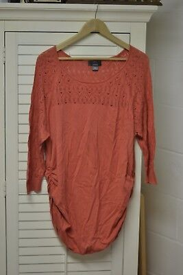 Oh Baby! by Motherhood size XL burnt orange/coral 3/4 sleeve top