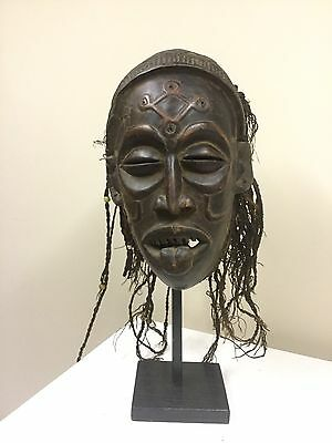 African tribal art MASK, Chokwe mask from Democratic Republic of Congo.