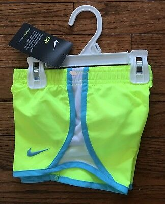 New! Nike Dri-Fit Shorts Yellow Blue Infant 18 Months