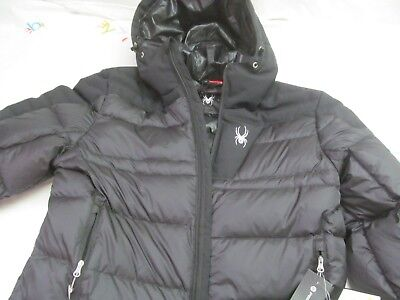 New With Tags Spyder Men's Bernese Down Jacket Men's Black Size M  Fall Winter