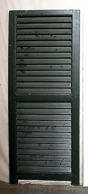 """2 available 18""""x44"""" Vintage Antique SOLID Wood Wooden Window Shutter Louver Door"""