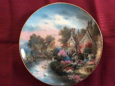 "2 Danbury Mint Limited Edition ""Grand Manor"" and ""Mill Creek Manor"" Plates"