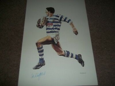 """Rare Vintage Poster 16 1/2 X 11 1/2"""" Colin Whitfield Halifax Rugby League 1989"""