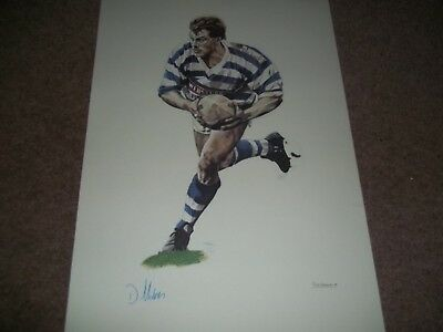 """Rare Vintage Poster 16 1/2 X 11 1/2"""" David Holmes Halifax Rugby League 1989"""