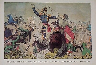 "VTG Currier & Ives Print * * * Mexican American War * * 9"" x 12"" * * SEE VARIETY"