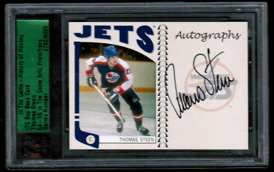 2004-05 ITG Franchises Update Autographs #TS Thomas Steen BuyBack Auto