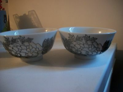 2- Small Size Chinese Bowls   -4 1/2 Inches Across- Very Nice!