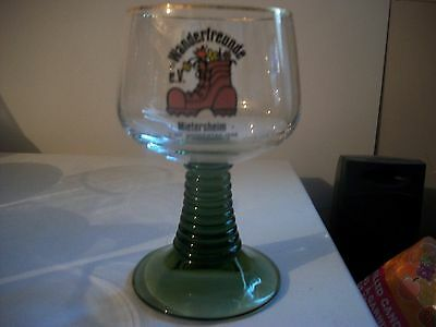 German- Green Stemmed Gold Rimmed Beer Goblet- #2