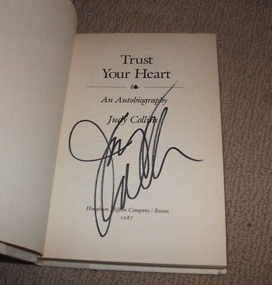 Judy Collins - Signed Trust Your Heart Hardcover Book - Autographed! Folk Legend