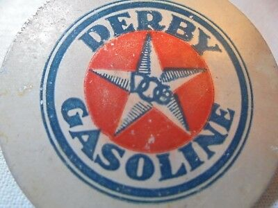 Vintage Derby Gasoline Advertising Coat Hook For Early Automobile-Gas & Oil-Rare