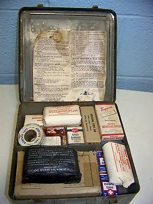 WW II U.S. Army Medical Department First Aid Kit with Contents