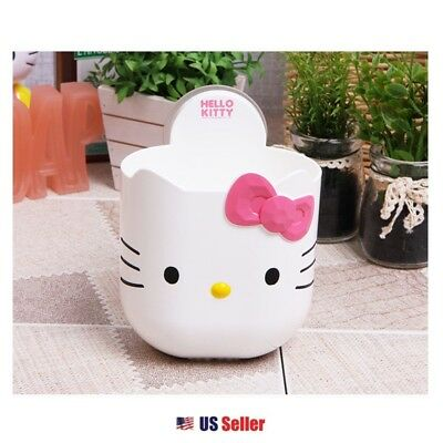 Sanrio Hello Kitty Toothbrush Toothpaste Holder Bathroom : Kitty with Pink Bow