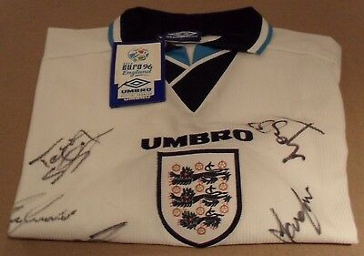 Umbro Euro 96 Autographed England Shirt Xl - New