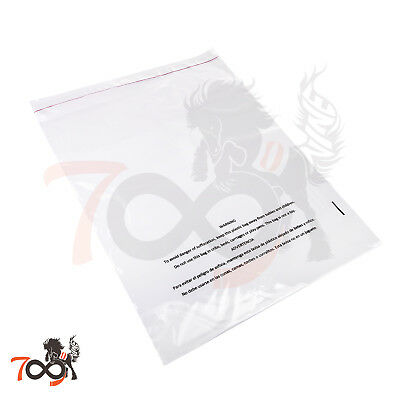 Owlpack Clear Poly Adhesive Seal Suffocation Warning FBA Bag 1.5 Mil 12 x 15