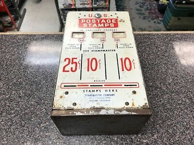 VINTAGE STAMP POSTAGE VENDING MACHINE 3 SLOT DISPENSER BOX ONLY Free Shipping!!