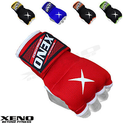 Xeno Fist Gel Bandages MMA boxing Inner Quick Hand Wraps Gloves straps black