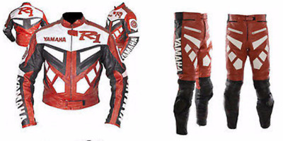 NEW-YAMAHA-R1-MOTORCYCLE/MOTORBIKE LEATHER SUIT COWHIDE RACING-CE Armored(Rep)
