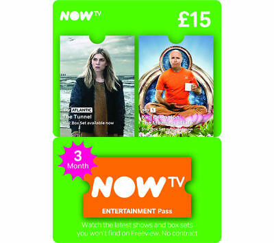 NOW TV 3 Month Entertainment Pass - INSTANT DELIVERY