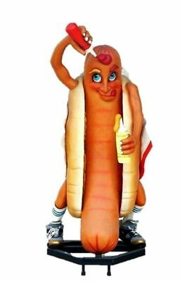 Hot Dog Life Size Statue  HotDog Display Restaurant Decor Food Sausage Prop