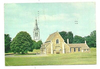 Oakham - a larger format, photographic postcard of the Castle and Church