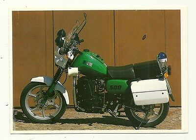 MZ 500 Motor Cycle - a larger format, photographic postcard