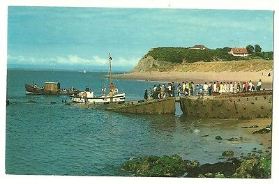 Caldey Island - a photographic postcard of Priory Bay and the Landing Slip