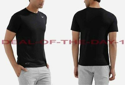 NWT Nike Men's Large L Short Sleeve Legend Dri Fit Shirt Black 727982 010 NEW