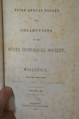 1857 Wisconsin Historical Collections Vol. 3 (1856)~Early Jesuits, Indian Tribes