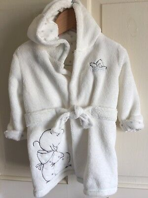 BNWT Humpreys Corner Fleece Hooded Dressing Gown. Unisex. Age 0-6 Months