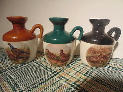 lot of 3 mini crock scotch whiskey jugs