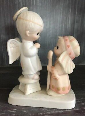 "1978 Precious Moments ""Jesus is Born"" Porcelain Figurine"