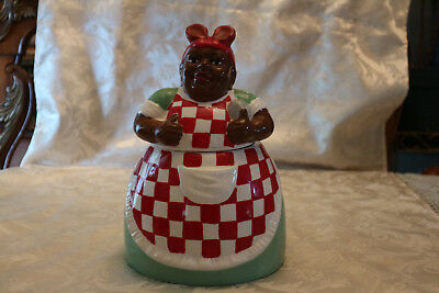 """Casa Vero"" Black American  Cookie Jar"