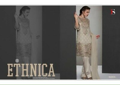 Pakistani Shalwar Kameez Suit For EID Wedding Party Georgette Stitched Small 36""