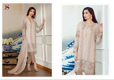 Pakistani Shalwar Kameez Suit For Wedding Party EID/Georgette Stitched Small 36""