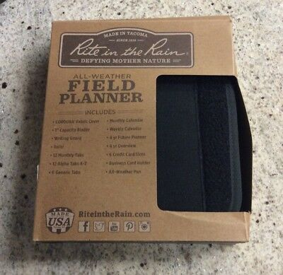 Rite in the Rain 9250B All-Weather Field Planner Black new