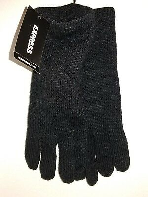 Express Ladies 1 Pair of Black Gloves One size CL15