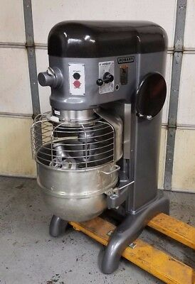 Hobart H600 60 Qt Mixer 208v 3 Phase - Bowl Guard + Accessories - Very Nice