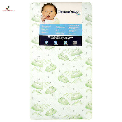 Dream On Me Spring Crib and Toddler Bed Mattress Twilight, green Brand NEW