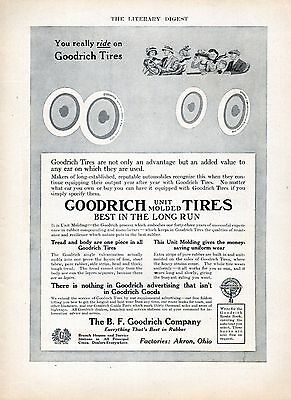 1919 B.F. Goodrich Tire Ad -By -----Coles Phillips ---Classic Fade-A-Way ---z664