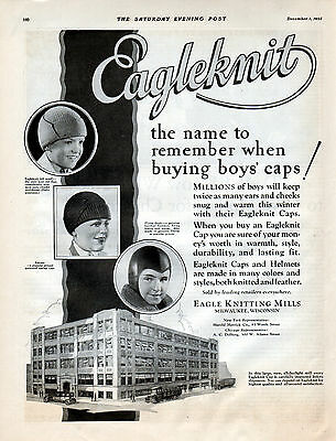 1928 Eagleknit Boys' Caps ad ---k42