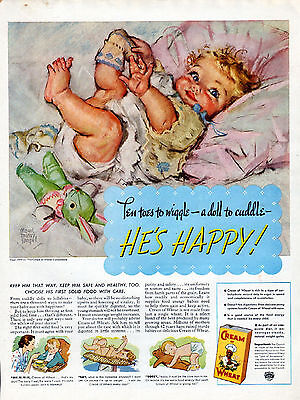 1937 Cream of Wheat Ad -----by- Maud Tousey Fangel ----345
