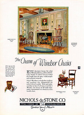 1926 Windsor Chairs ad by Nichols & Stone -l-779