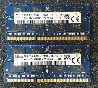 16 GB HYNIX PC3L-12800S DDR3 1600 MHz Laptop MEMORY RAM