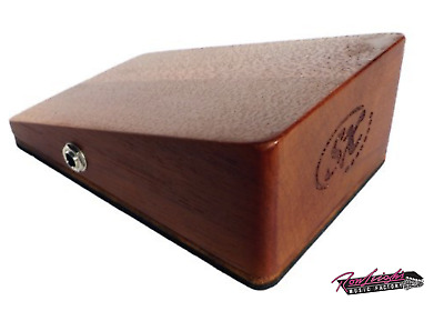 Essex SBX11 Mahogany Wooden Stomp Box - Wedge Shaped with Active Pickup