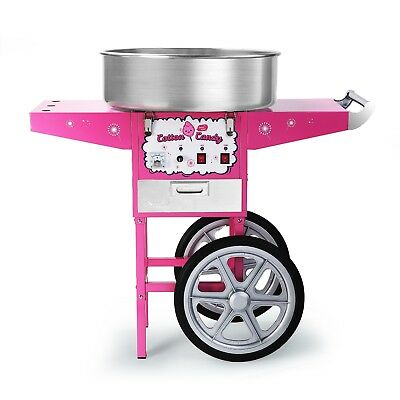 Commercial Cotton Candy Machine With Cart Pink