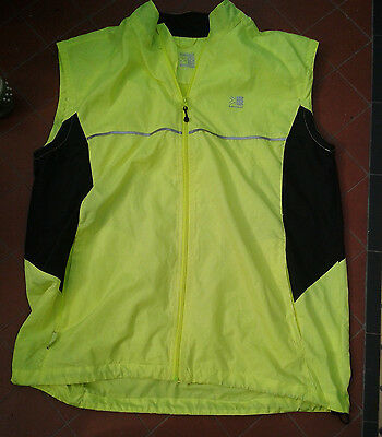 Karrimor Mens High Viz Running Sleeveless Jacket Vest Size L Nwot