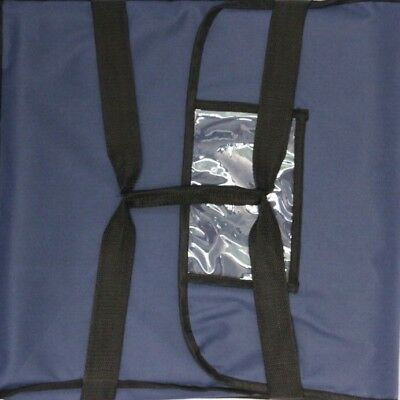 "Pizza Food Delivery Bag Blue Thermal Insulated NYLON holds 2 16"" Pizzas Pies"