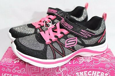 Skechers Swift Kick Girls Slip-On Athletic Shoe Black/neon Pink Variety Size New