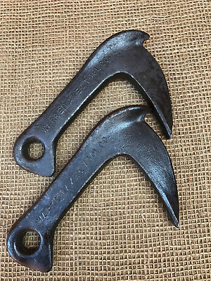 Antique NOS - (2) WARREN AXE & TOOL CO. Bulldog No. 1 Log Grabs/ Dogs- Primitive