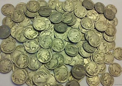 ROLL of 40 qty no date dateless buffalo nickels